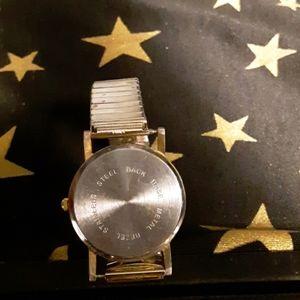 Vintage gold tone unisex watch